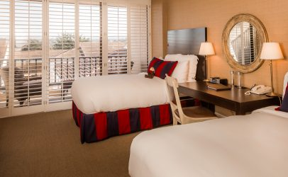 guestroom with two beds in Portola Hotel and Spa