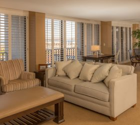 Monterey Hotel presidential suite with sitting room and dining room