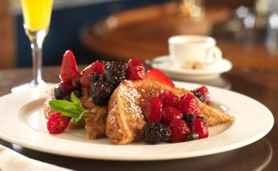french toast at jack's restaurant in Portola Hotel