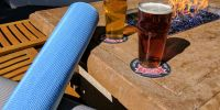yoga and beer event at Portola Hotel & Spa